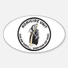 Homicide Unit Oval Decal