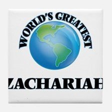 World's Greatest Zachariah Tile Coaster