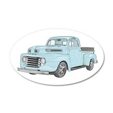 1950 Ford F1 Wall Decal