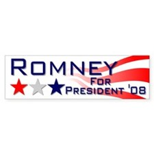 ::: Mitt Romney - Stripes ::: Bumper Bumper Sticker