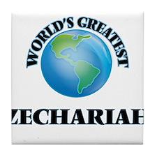 World's Greatest Zechariah Tile Coaster
