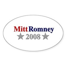 ::: Mitt Romney - Simple ::: Oval Decal