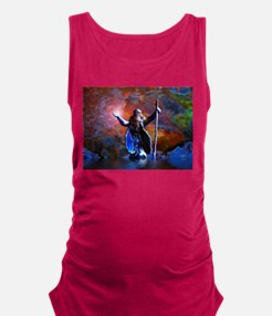 The Wizard And The Sea Maternity Tank Top