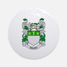 DRURY Coat of Arms Ornament (Round)