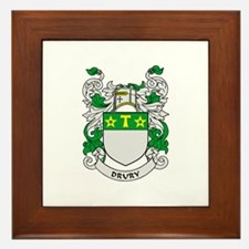 DRURY Coat of Arms Framed Tile