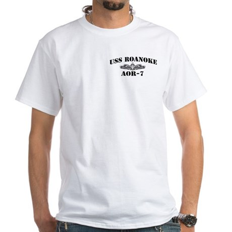 USS ROANOKE White T-Shirt