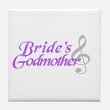 Bride's Godmother(clef) Tile Coaster