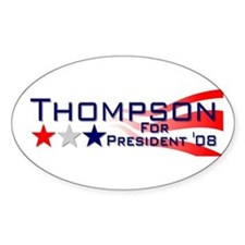 ::: Fred Thompson - Stripes ::: Oval Decal