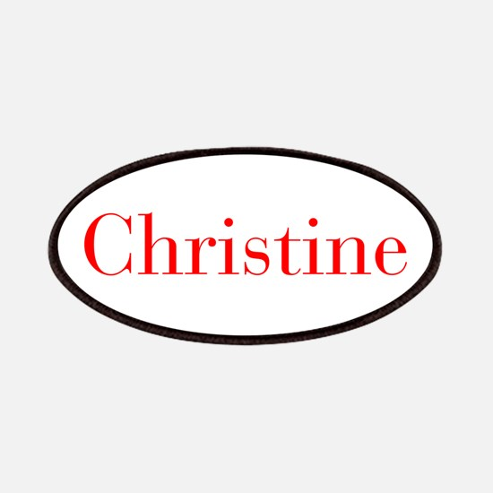 Christine-bod red Patches