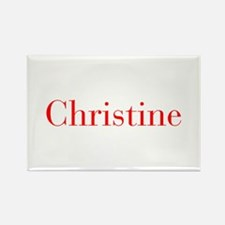 Christine-bod red Magnets