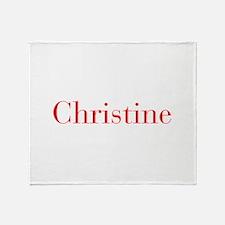Christine-bod red Throw Blanket