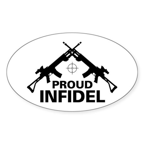 Infidel Oval Sticker