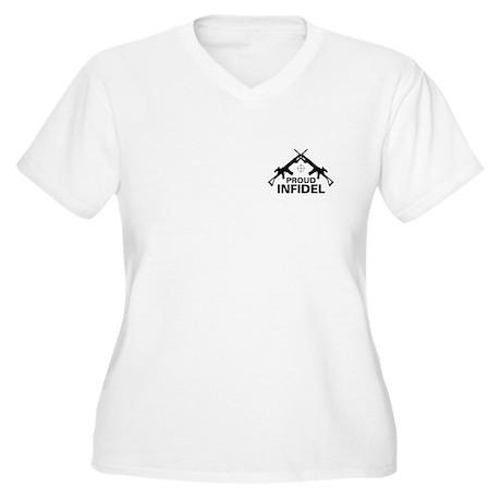 Infidel Women's Plus Size V-Neck T-Shirt