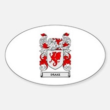 DRAKE Coat of Arms Oval Decal