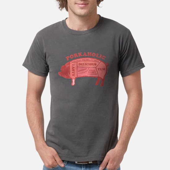 Porkaholic Mens Comfort Colors Shirt T-Shirt