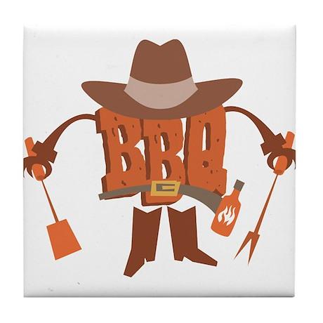 BBQ Dude Tile Coaster