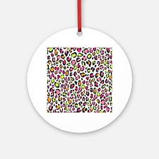 neon leopard print Ornament (Round)