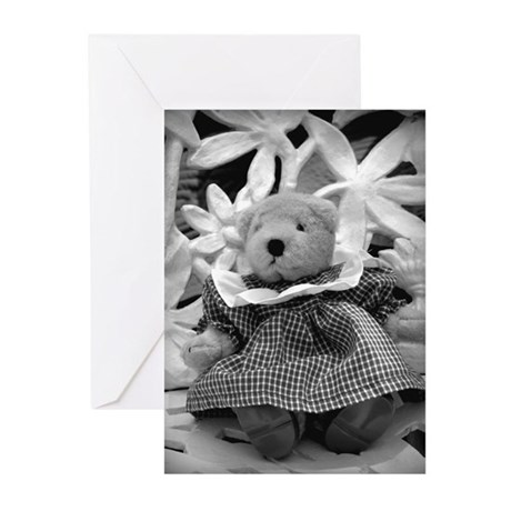 B&W Bear in Dress Greeting Cards (Pk of 10)