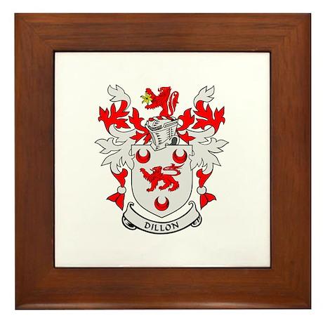 DILLON Coat of Arms Framed Tile