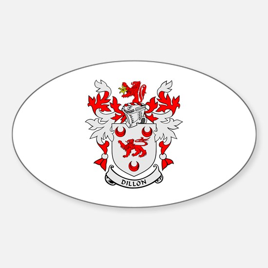 DILLON Coat of Arms Oval Decal