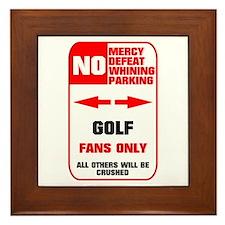 NO PARKING Golf Sign Framed Tile