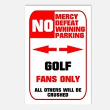 NO PARKING Golf Sign Postcards (Package of 8)