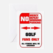 NO PARKING Golf Sign Greeting Cards (Pk of 10)