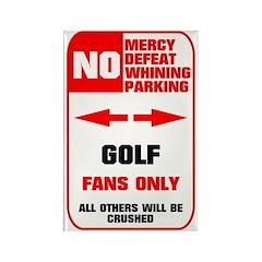 NO PARKING Golf Sign Rectangle Magnet (10 pack)