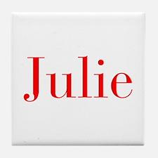 Julie-bod red Tile Coaster