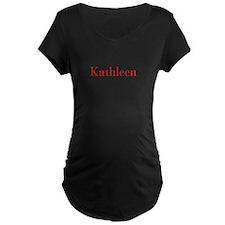 Kathleen-bod red Maternity T-Shirt