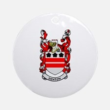 DENTON Coat of Arms Ornament (Round)