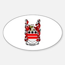 DENTON Coat of Arms Oval Decal