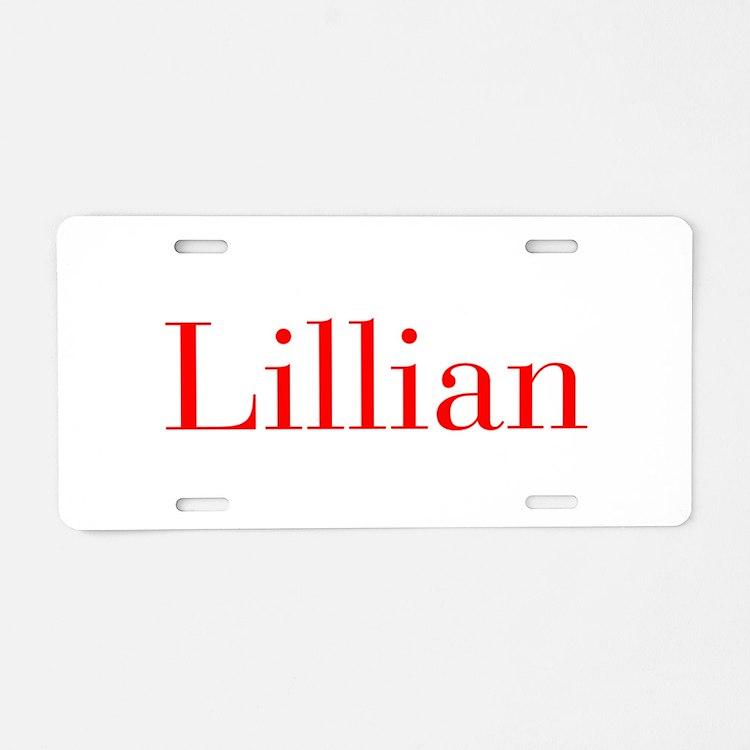 Lillian-bod red Aluminum License Plate