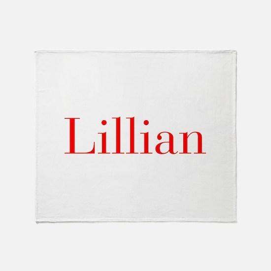Lillian-bod red Throw Blanket