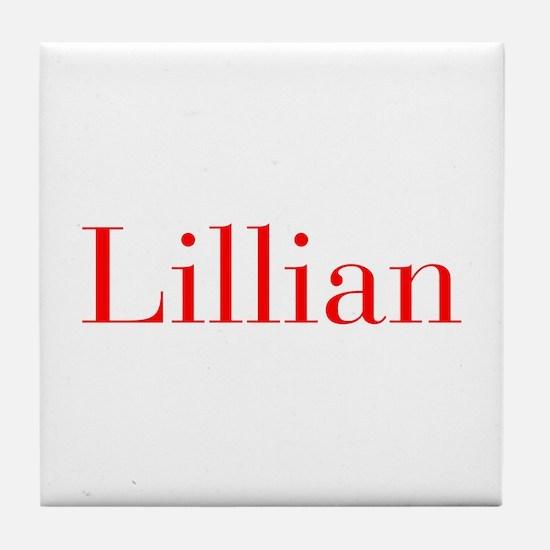 Lillian-bod red Tile Coaster