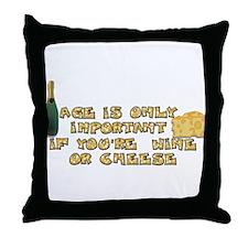 Cute Senior citizen Throw Pillow