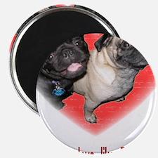 """Cute Pugs 2.25"""" Magnet (10 pack)"""