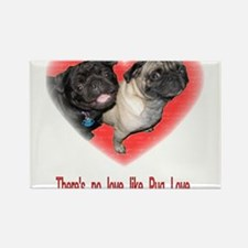 Cute Pug valentine Rectangle Magnet