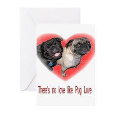 Cute Pugs Greeting Cards (Pk of 10)