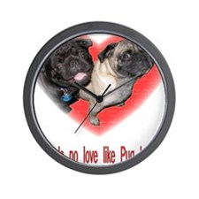 Cute Pugs Wall Clock