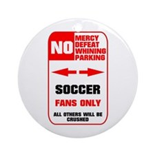 no parking soccer Ornament (Round)