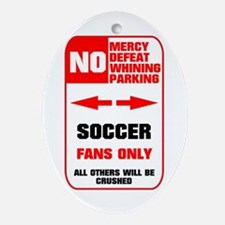 no parking soccer Ornament (Oval)