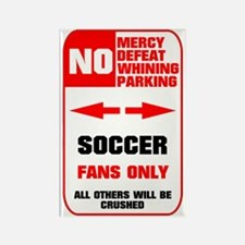 no parking soccer Rectangle Magnet (10 pack)