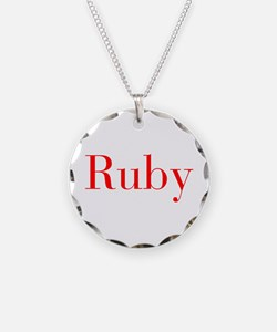 Ruby-bod red Necklace