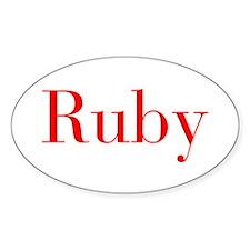 Ruby-bod red Bumper Stickers