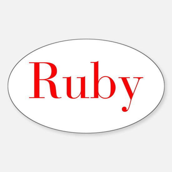 Ruby-bod red Decal