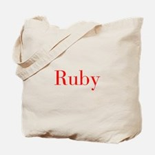 Ruby-bod red Tote Bag