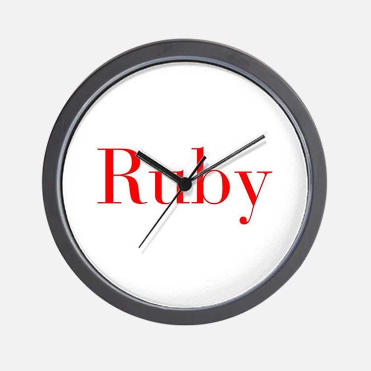 Ruby-bod red Wall Clock