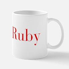 Ruby-bod red Mugs