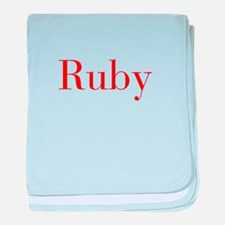 Ruby-bod red baby blanket